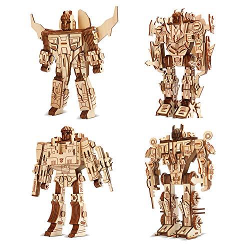 Auveach Puzzle Legno 3D Robot Artigianato Kit Assemblaggio Fai-da-Te Giocattoli Modello Robot Divertente Miglior Regalo per Adulti Uomini Ragazzi Bambini età 10 11 12 13 14 + Anni