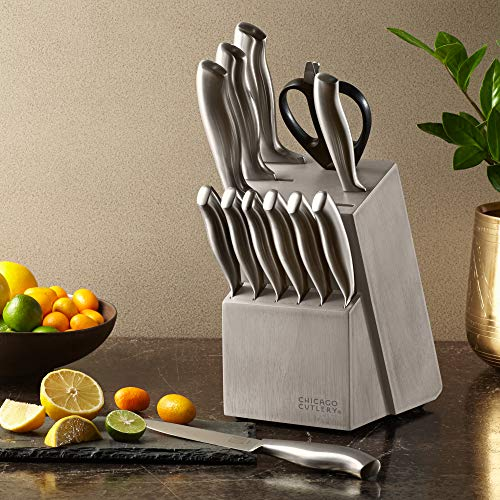 Chicago Cutlery Insignia Steel 13-Piece knife set with block