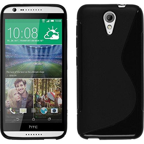 PhoneNatic Funda de Silicona Compatible con HTC Desire 620 - S-Style Negro -...