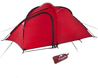 Naturehike Hiby3 2-3人用/Hiby4 4人用キャンプ テント アウトドア登山テント ゆったり前室 タープスペース付き二層構造 防雨 防風 防災 グラウンドシート付き アップグレード版