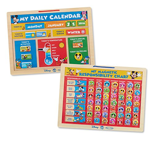 Melissa & Doug Disney Mickey Mouse Clubhouse Magnetic Calendar and...