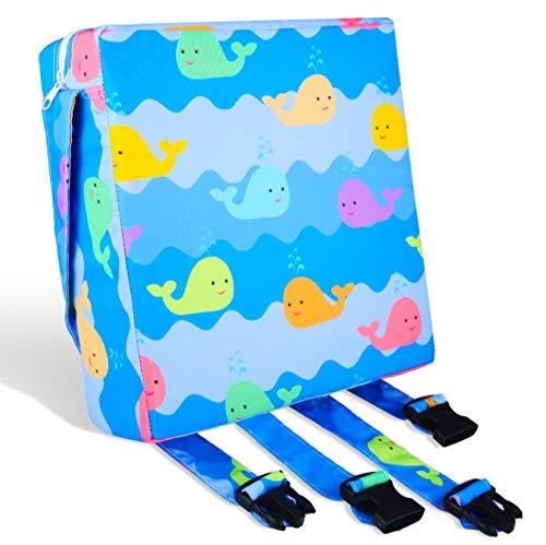 Booster Seat Cushion for Children, Boostersitze für Esstisch Pad. Kleinkinder Esszimmerstuhl ErhöHen Pad, Waschbar, Verstellbar, Zerlegbar, nichtrutschen, Tragbar Sitzkissen
