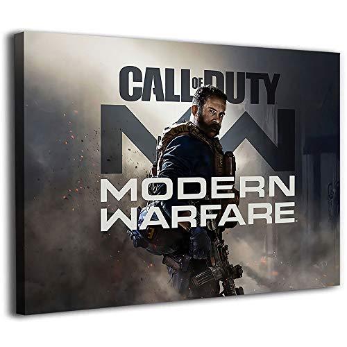 Tela di canapa per pittura murale Call Of Duty Modern Warfare Remastered Poster Tela 76,2 x 50,8 cm