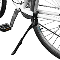 BV Alloy Adjustable Height Rear Side Bicycle Kick Stand (Black)