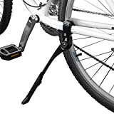 BV Bike Kickstand - Alloy Adjustable Height Rear Side Bicycle Kick Stand, for 24' - 28' Mountain Bike/Road Bike/BMX/MTB (Black)