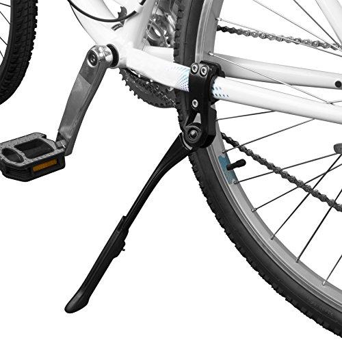 "BV Bike Kickstand - Alloy Adjustable Height Rear Side Bicycle Kick Stand, for 24"" - 29"" Mountain Bike/ Road Bike/ BMX/ MTB (Black)"