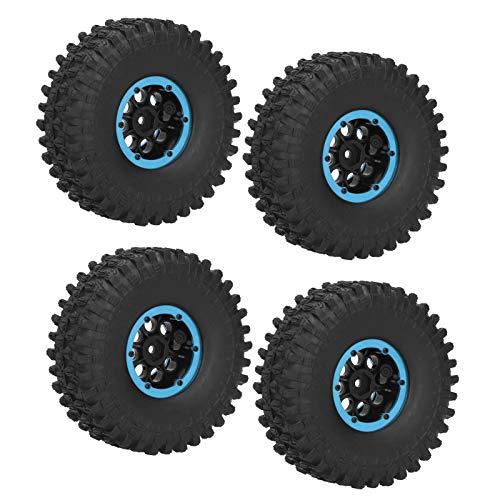 4pcs Neumático de Coche Duradero 4Pcs RC Racing Neumáticos para Coche de Carreras en Carretera(Blue)