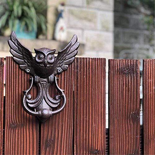 FSFF Pull Door Handle, Classical Tranditional Euro Rustic Style Gate Door Handles For Your Garden/Wooden House/Farmhouse/Cabin,Heavy Duty Vintage Cast Iron Owl Door Knocker