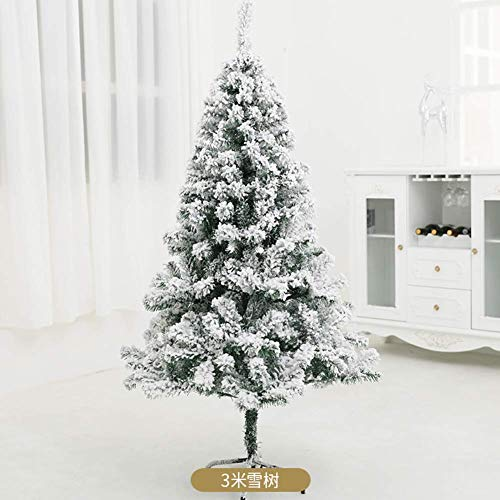 AISHANG Premium Pvc Artificial Christmas Tree, 300cm 10 Ft, Snow Flocked Hinged Pine Tree Full Xmas Tree Unlit For Indoor Outdoor Decoration-300cm(10ft)
