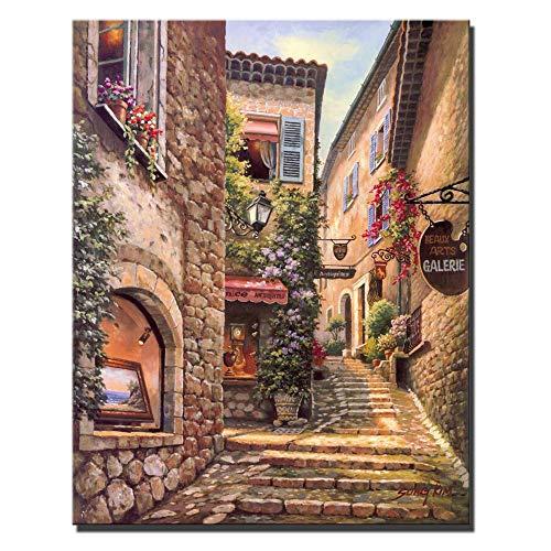 SQSHBBC Classica Città di Venezia Paesaggio Dipinti su Tela Stampa Digitale paesaggi Poster e Stampe Decorazioni per la casa Quadri per Soggiorno 60x90 cm Senza Cornice