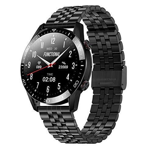 RCH Smart Watch Men's Smart Watch Llamada Bluetooth 1.3 Pulgadas Pantalla Táctil Completa TK28 Tipo De Corazón Monitor De Salud De La Presión Arterial IP67 A Prueba De Agua Smartwatch,A