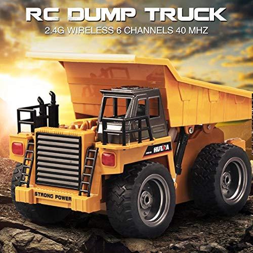 RC Auto kaufen LKW Bild 4: likeitwell 2.4G 6-Kanal-Vollfunktions-LKW 1:18 ferngesteuertes Kipper-Baufahrzeug-Spielzeug für Kinder*