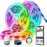 Tiras Led Música Dreamcolor, TASMOR Tira Led 10M Wifi, 12V 300 leds, Sync con Música, Control de Móvil, Alexa y Google Home, Brillo Ajustable, Luces Led para Decoración Habitación, Fiesta