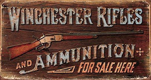 Winchester Rifles and Ammo Blechschild Flach Neu aus USA 21x40cm mit Bset