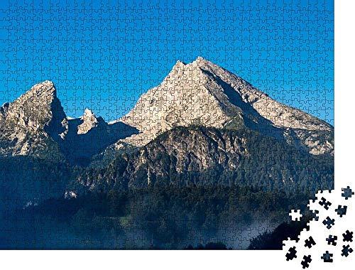 guyuell Stichsäge 1000 Stück Panorama Watzmann Berchtesgaden - Klassische Stichsäge 1000 Stück Edle Motivbox Fotopuzzlesammlung Bekannte Berge
