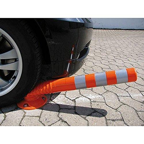 LEMAX® Flexipfosten Sperrpfosten selbstaufrichtend robust orange/weiß Ø80 - 750mm hoch