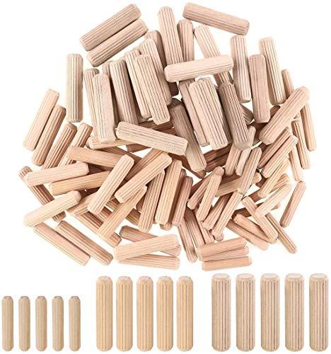 Holzdübel M6 M8 M10 Hartholz Rillenstopfen Möbel Holzarbeiten gerillt gerillt Stift Handwerk 6 mm 8 mm 10 mm