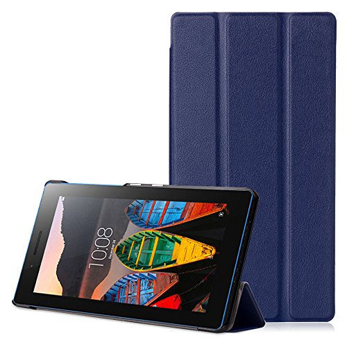 Lenovo Tab3 7 Case - Ultra Slim Lightweight Smart Shell Stand Cover for Lenovo Tab3 7 Inch Tablet 2016 Release, Indigo (NOT Fit Lenovo Tab3 7 Essential)