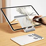 Newaner Soporte para Tablet de Aluminio Soporte Plegable Ajustable para teléfono Celular, Mesa, Compatible con iPad, MediaPad, iPhone, Otras tabletas 5 '-13', Kindle, Smartphone de 4 '- 8', Plateado