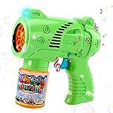 JoyGrow Pistola de Burbujas para Niños Automatic Maquina Burbujas con Música,Luz,Solución de Burbujas,Pistola de jabón para Fiestas Cumpleaños,Bodas al Aire Libre,Regalos para Niños y Niñas (1PCS)
