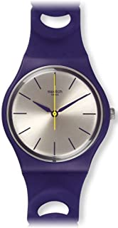SWATCH PURPBELL GV127 PURPLE SILICONE MENS WATCH