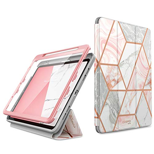 i-Blason Cosmo Case for iPad Air 4 10.9 Case (2020), Full-Body Trifold with Built-in Screen Protector Protective Smart Cover with Auto Sleep/Wake & Pencil Holder (Marble)