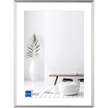 Bilderrahmen Torino 40x40 cm mit Passepartout Lichtgrau für Bild 30x30