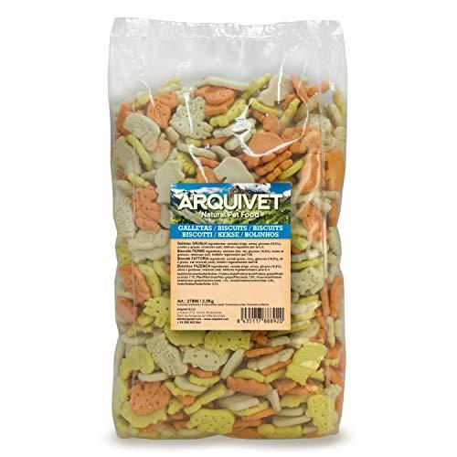 Arquivet Galletas Granja 2,5 Kg para Perros - Snacks Naturales para Perros - Chuches para Perros - Golosinas Naturales para Mascotas - Mejores Snacks para Perro