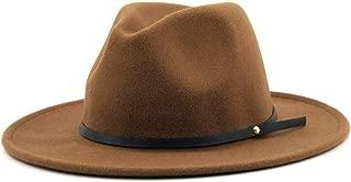 MZHHAOAN Jazz Hats Felt Narrow Leather Bandwidth Side Winter Autumn Hat