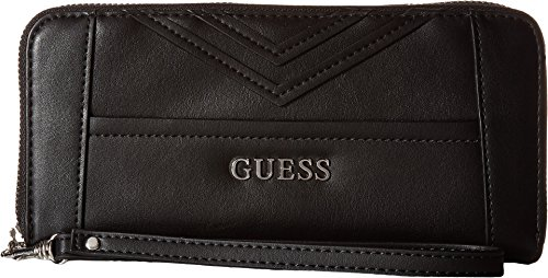 GUESS Women's Delaney Large Zip Around Black One Size