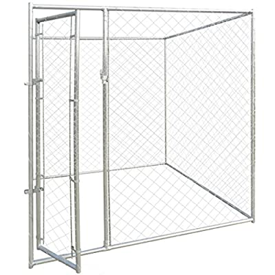 Anself Heavy-duty Outdoor Dog Kennel Galvanised Steel 200 x 200 x 195 cm from Anself
