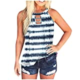 tie Dyed Tunic Tops Fourth July Shirt Beach Graphic tees Girls' Tops, tees & Blouses Gift Card Birthday Tops Decorations for The Home Summer Tops Women Tops Fashion WhiteA L