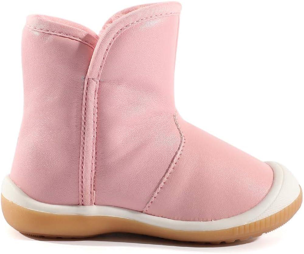 LACOFIA Toddler Boys Girls Anti-Slip Rubber Sole Waterproof Winter Warm Snow Boots