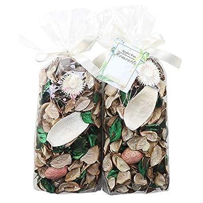 Qingbei Rina Potpourri Bag White Color Dried Flowers Floral and Tea Scented Fragrance Sachet Petal Bowl and Vase Filler Home Decor,2 Bags,240g,Suitable for Filling a 83 Fluid-Oz Bowl