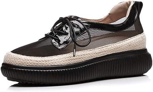 1TO9 MMS06553, Sandales Compensées Femme - Noir - Noir, 36.5