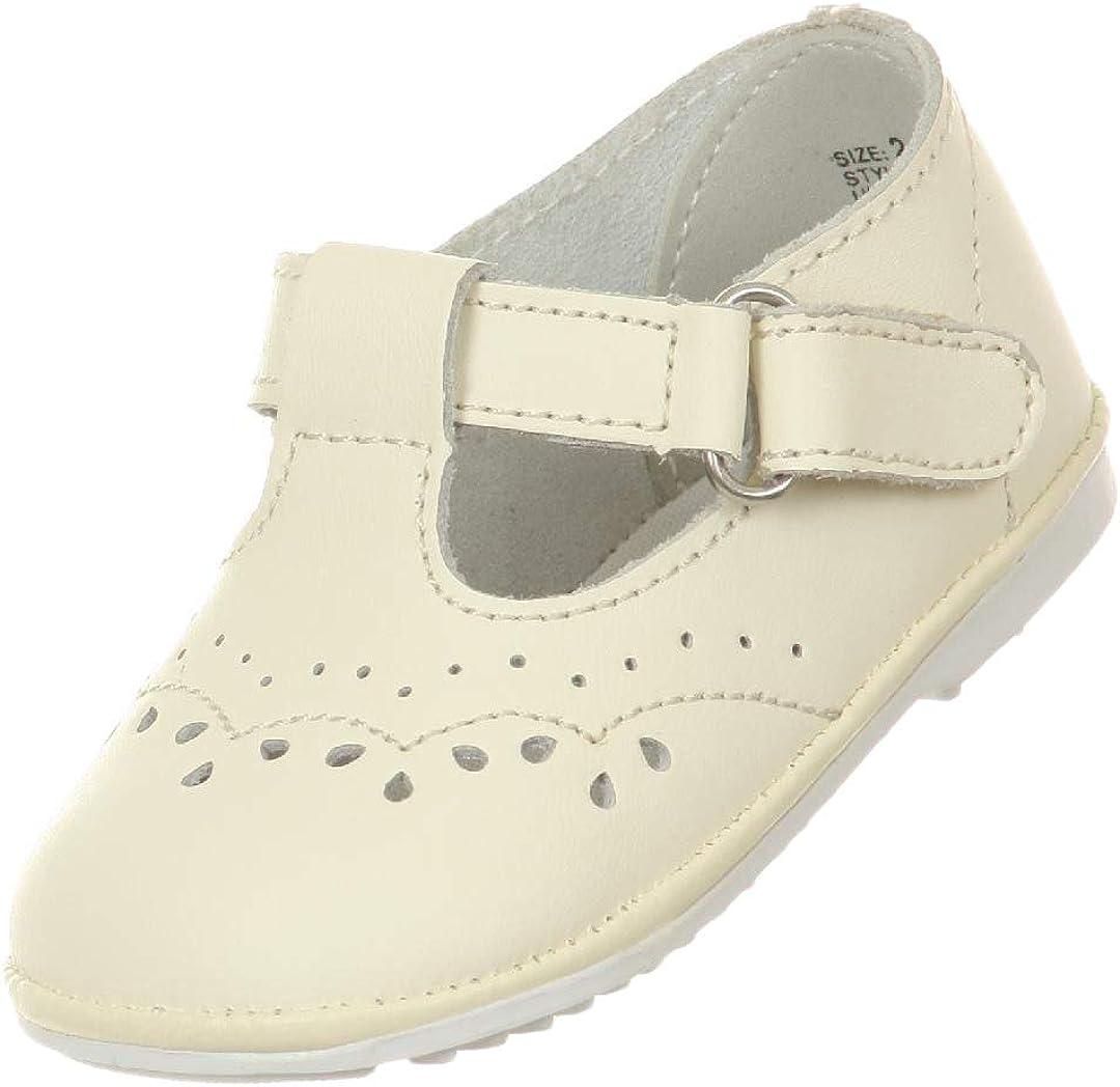 Ivory White Baby Toddler Girls Leather Shoes Mary Jane Christening Baptism Dedication