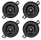 (4) Memphis Audio PRX3 3.5' 30 Watt 2-Way Car Speakers w/Pivot Tweeters