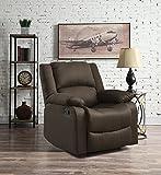 Relax A Lounger Warren Reclining Chair, Chocolate