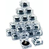 24 Clear Crystal Ring Gift Boxes 1 7/8'