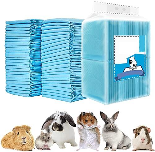 CAILOS 20 Pcs Rabbit Pee Pads, Disposable Super Absorbent Diaper, Pet Toilet/Potty Training Pads for Guinea Pigs, Hedgehog, Hamsters, Chinchillas, Cats, Dogs