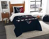 The Northwest Company NFL Houston Texans Unisex 'Draft' Twin Comforter and Sham Set, Blue, Twin , 64'x86' / 24'x30'