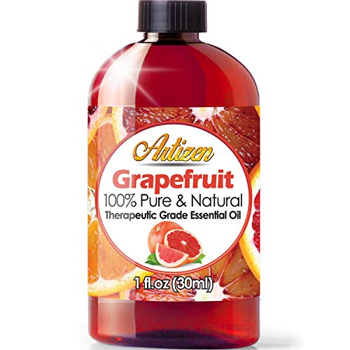 Artizen Grapefruit Essential Oil (100% Pure & Natural - UNDILUTED) Therapeutic Grade - Huge 1oz Bottle - Perfect for Aromatherapy, Relaxation, Skin Th