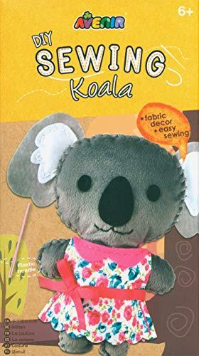 Avenir 01376 DIY Nähset, Sewing Koala, Bastelset für Kinder, Kreativ-Set, ab 6 Jahren, Mehrfarbig