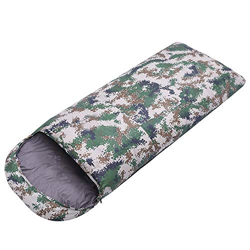 Adult Sleeping Bag Adult Camouflage Sleeping Bag All Season Camping, Oversized Warm And Lightweight Stitching Envelope Sleeping Bag 100% Waterproof Compression Carrying Bag Ideal For Hiking Backpacks