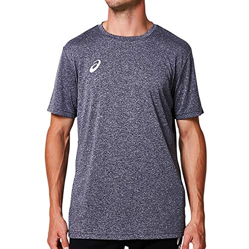 [アシックス] トレーニングウエア OP半袖シャツ(杢) 2031A675 メンズ ピーコート杢 日本 XL (日本サイズXL相当)