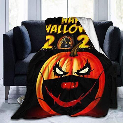 Feliz Halloween 2020 mantas utilizadas para camas Sofás cálido y cómodo franela de microfibra mantas ligeras (hombres, mujeres)