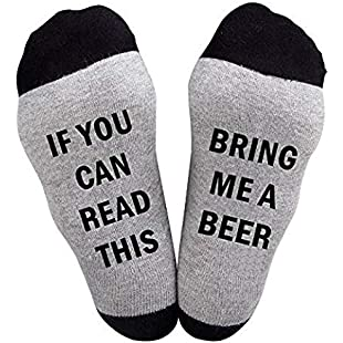 JJPP The best gift funny socks Christmas stockings If you can read the wine socks for lovers, friends, mothers and fathers this cotton Christmas stockings for:Kisaran
