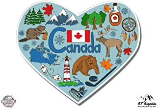 GT Graphics Canada Heart Local Native Culture Travel - Vinyl Sticker Waterproof Decal