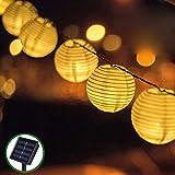 Guirnaldas de Luces Solar Jardín LED Bawoo 30 LED Guirnaldas Luces Exterior 5,5m...