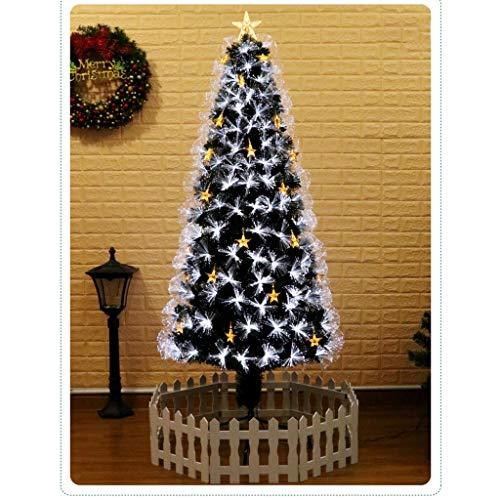 ASKLKD Múltiples Tamaños Verde Árbol De Navidad Decorado, con Varios Modos De La Estrella del LED Luces De Fibra Óptica Árbol De Navidad (Size : 210cm)